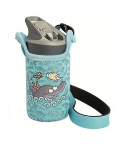 LAKEN JANNU TRITAN plastovA? flaL?a 450ml Kukuxumusu modrA? + neoprA(C)n. obal BPA FREE