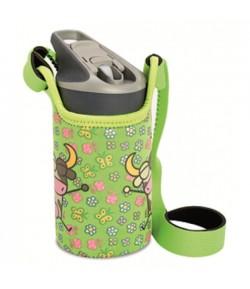 LAKEN JANNU TRITAN plastovA? flaL?a 450ml Kukuxumusu zelenA? + neoprA(C)n. obal BPA FREE