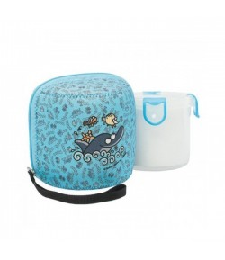 PP food container 0,68 L w/neoprene cover Delfin