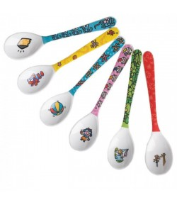 Set 6 pcs. melamine spoon medium