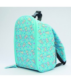 Insulated baby/kids backpack teddys blue