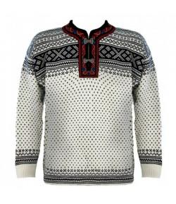 DALE SETESDAL unisex sveter, biely A