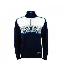 DALE SKISKYTTER pansky sveter zo 100% merino vlny - modry - POSLEDNY KUS!